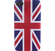 El modelo de Union Jack Caso trasero duro para el iPhone 4/4S