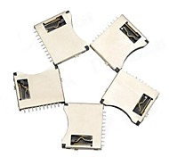 TF Micro SD Memory Card Holder - Plata + Negro (5 PCS)