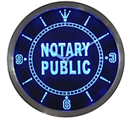 nc0457 Notary Public Neon Sign LED Wall Clock