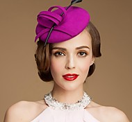 Fashionable Wool  Ladies Wedding/Special Occasion Fadora Hat With Bowknot