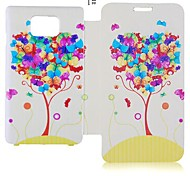 Ballon serie lederen Full Body Case voor Samsung Galaxy S2 I9100 (assorti kleur)