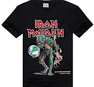 Cuello redondo ROCKSIR ® Camisetas de heavy metal Iron Maiden Horror Imprimir T-shirt