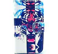 Cross Tiger Pattern PU Leather Case with Card Holder for Samsung Galaxy I8160