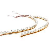 2pcs 24cm 24 LED Flexible étanche bande de PVC Red Light 12V