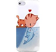 Cat Love Fish Pattern Hard Case Cover for iPhone 5/5S