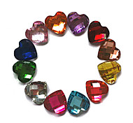 24PCS Mixs color Glitter Love Rhinestone Decoración de uñas