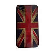 Retro British Flag Pattern PC Back Case for iPhone 4/4S