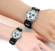 Couple's Casual Style White Matrix Pattern Nylon Band Wristwatch(1pcs) Cool Watches Unique Watches