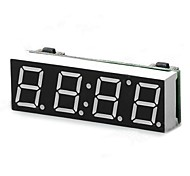 4-Digit Yellow LED Clock w/ Thermometer / Voltmeter (5~15V)