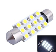 39mm 3W 150LM 6000K 12x3528 SMD White LED for Car Reading/License Plate/Door Lamp (DC12V, 1Pcs)