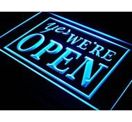 i366 YES We're Open Shop Cafe Restaurant Neon Light Sign