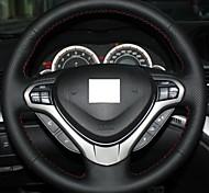 XuJi ™ Black Genuine Leather Steering Wheel Cover for Honda Spirior OId Accord