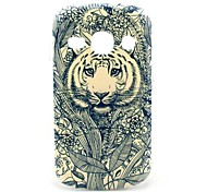 Patroon bloem Totem Tiger Hard Case voor Samsung Galaxy Fame S6810/S6818