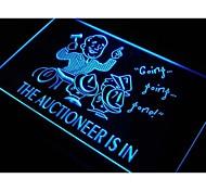 banditore è in vendita all'asta decorazione luce al neon segno