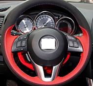 Xuji ™ Красный Натуральная кожа Черные замшевые Руль Обложка для 2012 2013 Mazda CX-5 CX5 Mazda Atenza 2014 Mazda 3