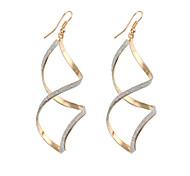 8 - word Shaped Alloy Gold Drop Earrings
