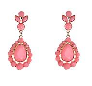 Fashion Resin Stone Set Drop Earrings
