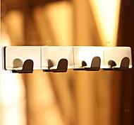 Нержавеющая сталь 4 Крючки