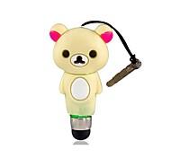 Cartoon Bear Touch Stylus Pen with 3.5mm Anti-Dust Plug for iPhone iPod iPad