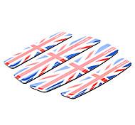 Patrón simple Union Jack de la motocicleta protector recorte parachoques (Kit 4 piezas)