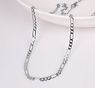 Unisex 2MM Width 18Inches(45cm)Length Silver Chain Necklace