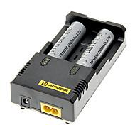 TrustFire 2500mAh 18650 (2pcs) + NETCORE I2 + Carregador de Bateria 2pcs/Lot plástico caixa de armazenamento da bateria
