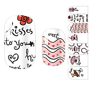 Arte Beijo design de unhas 28PCS dinâmicos Stickers