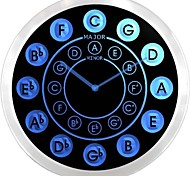 nc0945 Circle of Fifths Guitar Music Neon Sign LED Wall Clock