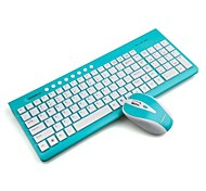 CONSON CS6000 2.4G Wireless Multimedia Chiclet Keyboard & Mouse Kit