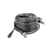 50ft.(15m) Male to Male RCA + Female to Male DC Power Video Extension Cable for CCTV Security Camera