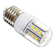 Bombillas LED de Mazorca T E26/E27 5W 24 SMD 5730 450 LM Blanco Cálido AC 100-240 V