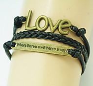 shixin® bracelet vintage d'emballage de forme de l'amour noir (1 pc)