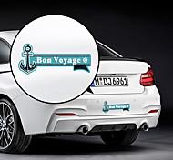 Motif Bon Voyage décoratif autocollant de voiture
