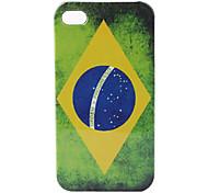 Hülle für iPhone 4 und 4S mit Brasilien Flagge (Mehrfarbig)