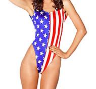 Traje de baño de Amerika Pamela Impresos mujeres Spandex
