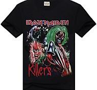 Gola redonda T-shirt Pure Iron Maiden impresso Masculina ROCKSIR ®