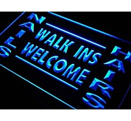 Nails Hairs Walk Ins Welcome Neon Light Sign