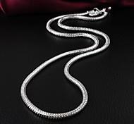 Бренд Дизайн Мода латуни посеребренные Женская ожерелье