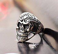 Men's Cast Metal  Skull Stainless Steel Ring