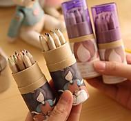 мультфильм девушка модель живопись 12 цветной карандаш (12 шт / комплект)