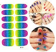28PCS Glitter Gradient Ramp Nail Art Stickers M Series NO.107