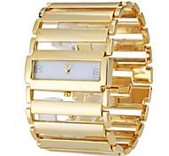 Damen Armband-Uhr Armbanduhren für den Alltag Japanisch Quartz Band Elegante Luxuriös Silber Gold Gold Silber