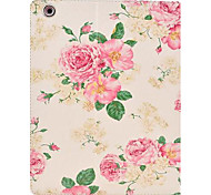 Beautiful Rose Pattern PU Leather Full Body Case with Stand for iPad 2/3/4