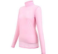 Mujeres TTYGJ Shirt Anti-UV de manga larga rosada Golf Base