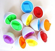Fun 6eggs/set Mixed Shape Wise Pretend Puzzle Smart Eggs Baby Kid Learning Kitchen Toys