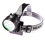 Scheinwerfer (einstellbarer Fokus / Wasserdicht) - LED 3 Modus 5000 Lumen 18650 Cree XM-L T6 Batterie / DC -Camping / Wandern /