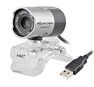 HD Webcam Aoni 8,0 mégapixels HD Camera Lens Digital Video Web caméra pour ordinateur portable et de bureau