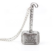 Europe America Personality Thor 2 Hammer Dark World Vintage Movie Pendant Necklaces