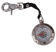 Multifunction Liquid Filled Pirate Compass w/ Strap / Keychain  Silver