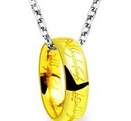 Herr Ringe Goldene Ring aus Edelstahl mit Kette
